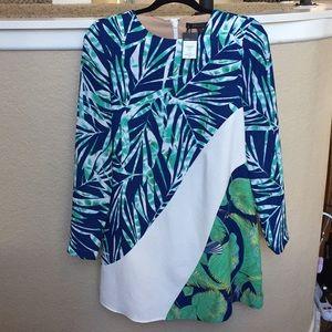 BCBG tropical midi dress. Size XS, brand new